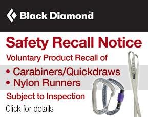 Black Diamond safety recall notice
