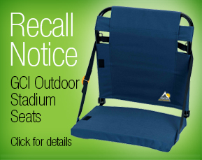 GCI Outdoor Stadium Seat recall