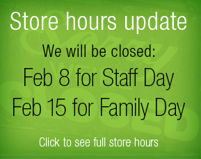 Store closings dates
