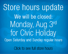 Store closed Aug 3 for Civic Holiday