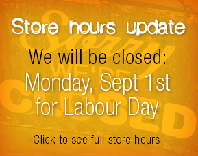 Store closed Monday, September 1st, 2014.