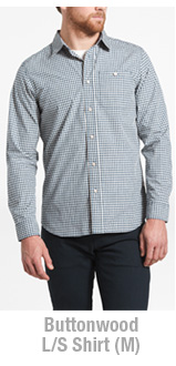 The North Face Buttonwood Long Sleeve Shirt (M)