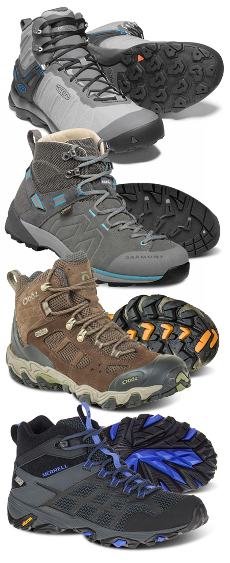 Spring hiking footwear from Keen, Garmont, Oboz and Merrell