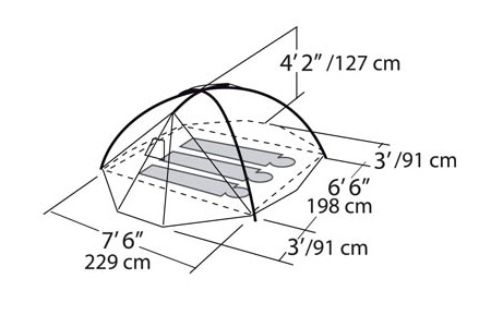 Eureka El Capitan 3 tent dimensions