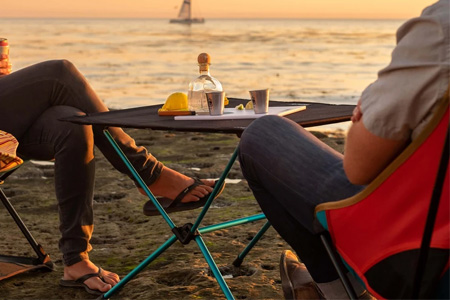 Helinox Table One on beach