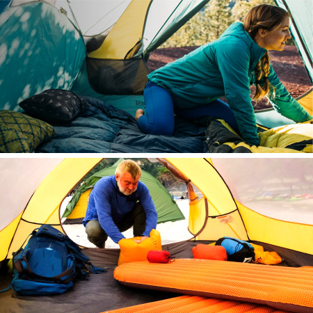 Sleeping pads from Therm-a-rest and Exped
