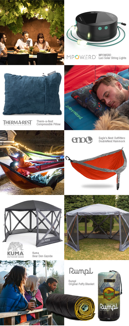 Cozy camping products