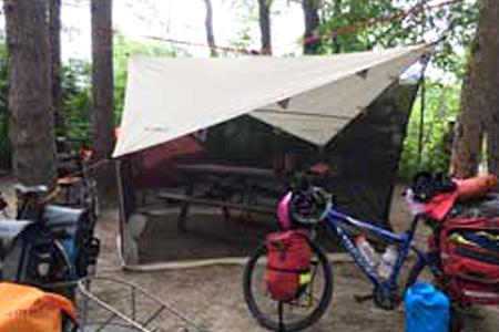 Eureka NoBugZone Shelter at campsite
