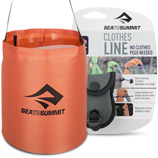 Sea to Summit camping clothes line and water bucket