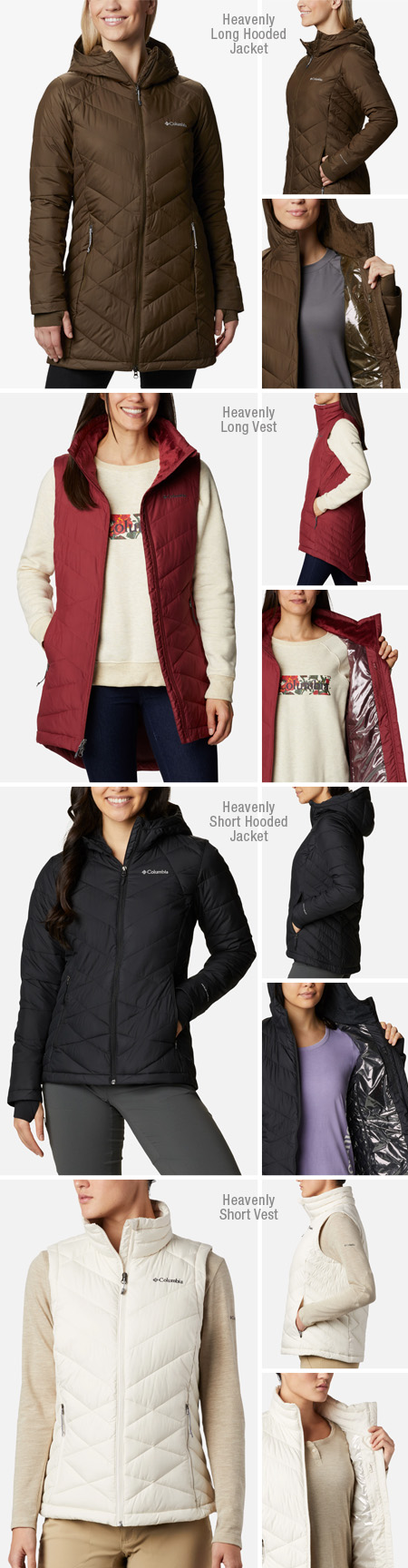 Columbia Heavenly jackets and vests products