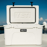 Yeti coolers and bottles
