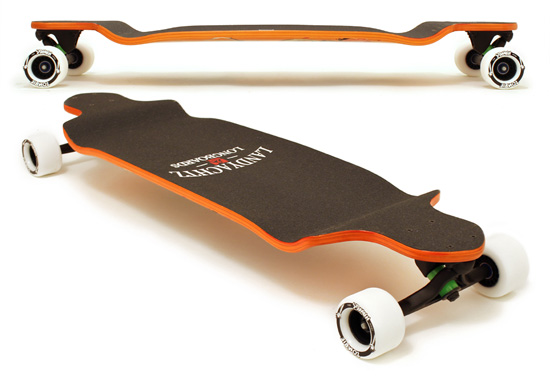 Landyachtz Switch 37 top and side views