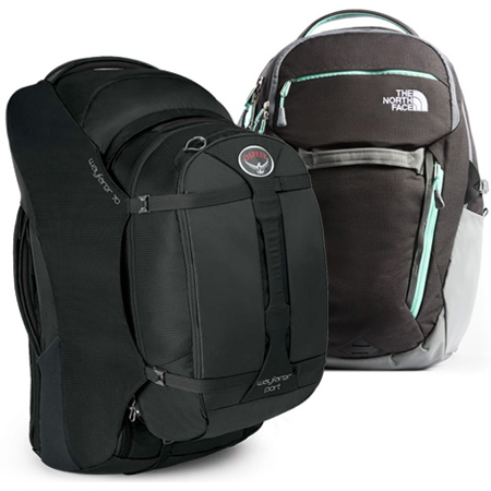 Osprey and The North Face packs