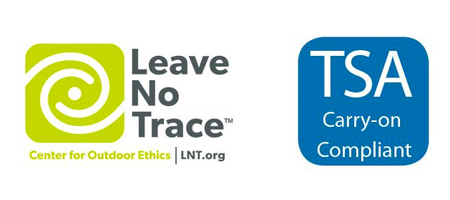Leave No Trace and TSA Compliant logos