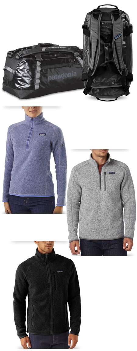 Patagonia Better Sweater and Black Hole Duffel