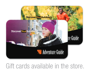 Adventure Guide gift cards