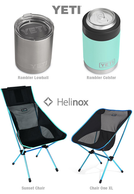 Yeti and Helinox gear for summer