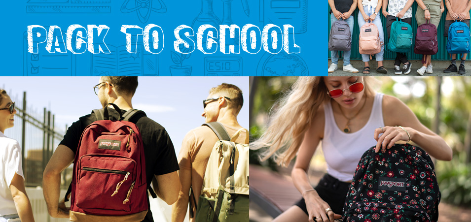 JanSport backpacks and lunch bags for back to school