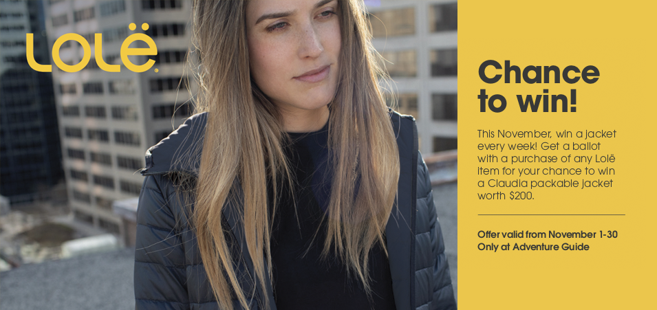 Chance to win a Lolë jacket this November!