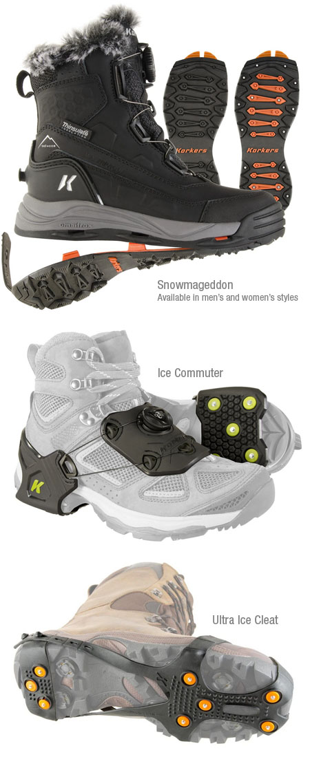 Korkers ice traction products